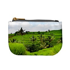 Bali Rice Terraces Landscape Rice Mini Coin Purses