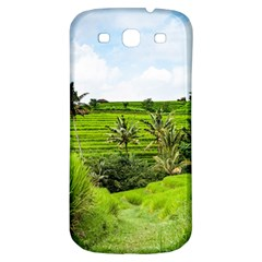 Bali Rice Terraces Landscape Rice Samsung Galaxy S3 S Iii Classic Hardshell Back Case