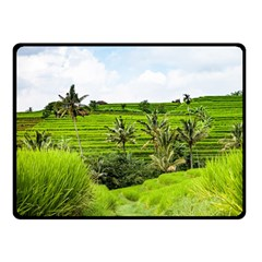 Bali Rice Terraces Landscape Rice Double Sided Fleece Blanket (small)