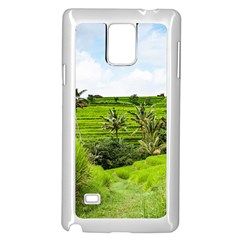 Bali Rice Terraces Landscape Rice Samsung Galaxy Note 4 Case (white)