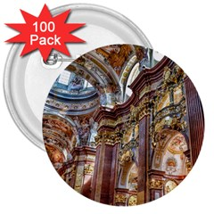Baroque Church Collegiate Church 3  Buttons (100 Pack)  by Nexatart