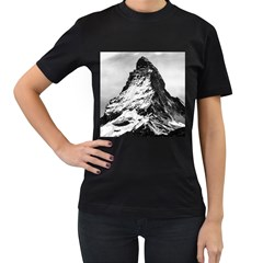 Matterhorn Switzerland Mountain Women s T Shirt (black) (two Sided)