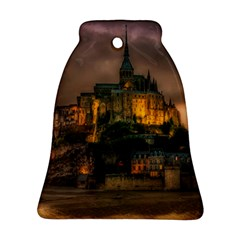 Mont St Michel Sunset Island Church Bell Ornament (two Sides) by Nexatart