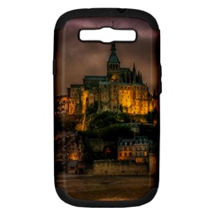 Mont St Michel Sunset Island Church Samsung Galaxy S Iii Hardshell Case (pc+silicone) by Nexatart