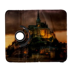 Mont St Michel Sunset Island Church Galaxy S3 (flip/folio) by Nexatart