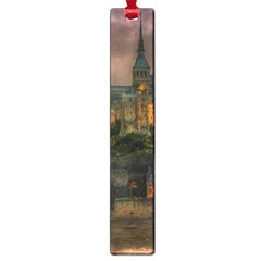 Mont St Michel Sunset Island Church Large Book Marks by Nexatart