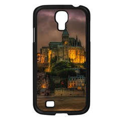 Mont St Michel Sunset Island Church Samsung Galaxy S4 I9500/ I9505 Case (black) by Nexatart