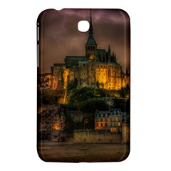 Mont St Michel Sunset Island Church Samsung Galaxy Tab 3 (7 ) P3200 Hardshell Case  by Nexatart