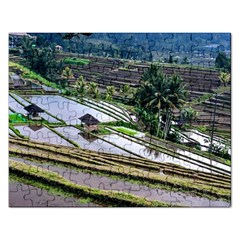 Rice Terrace Rice Fields Rectangular Jigsaw Puzzl