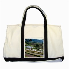 Rice Terrace Rice Fields Two Tone Tote Bag