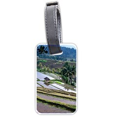 Rice Terrace Rice Fields Luggage Tags (one Side)  by Nexatart