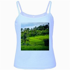 Rice Terrace Terraces Baby Blue Spaghetti Tank