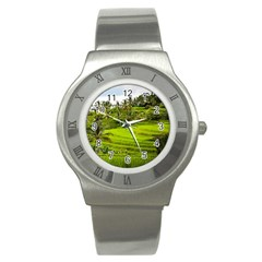 Rice Terrace Terraces Stainless Steel Watch