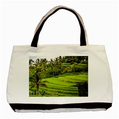 Rice Terrace Terraces Basic Tote Bag by Nexatart