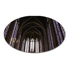 Sainte Chapelle Paris Stained Glass Oval Magnet by Nexatart