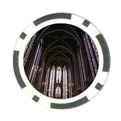Sainte Chapelle Paris Stained Glass Poker Chip Card Guard