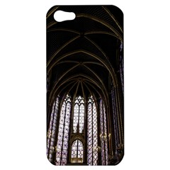 Sainte Chapelle Paris Stained Glass Apple Iphone 5 Hardshell Case by Nexatart