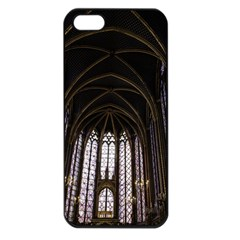 Sainte Chapelle Paris Stained Glass Apple Iphone 5 Seamless Case (black) by Nexatart