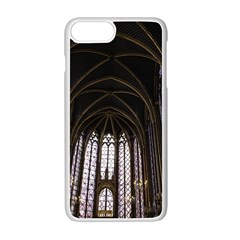 Sainte Chapelle Paris Stained Glass Apple Iphone 7 Plus White Seamless Case