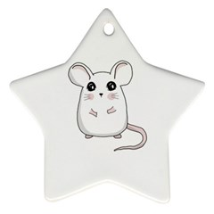 Cute Mouse Ornament (star) by Valentinaart