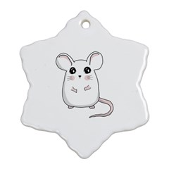 Cute Mouse Snowflake Ornament (two Sides) by Valentinaart