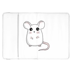 Cute Mouse Samsung Galaxy Tab 8 9  P7300 Flip Case by Valentinaart
