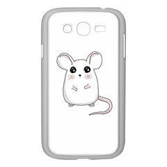 Cute Mouse Samsung Galaxy Grand Duos I9082 Case (white) by Valentinaart