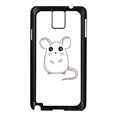Cute Mouse Samsung Galaxy Note 3 N9005 Case (black) by Valentinaart