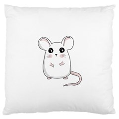Cute Mouse Large Flano Cushion Case (one Side) by Valentinaart