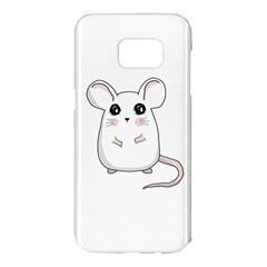 Cute Mouse Samsung Galaxy S7 Edge Hardshell Case by Valentinaart