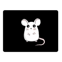 Cute Mouse Fleece Blanket (small) by Valentinaart