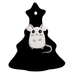 Cute Mouse Christmas Tree Ornament (two Sides)