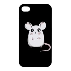 Cute Mouse Apple Iphone 4/4s Premium Hardshell Case by Valentinaart