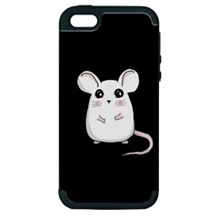 Cute Mouse Apple Iphone 5 Hardshell Case (pc+silicone) by Valentinaart