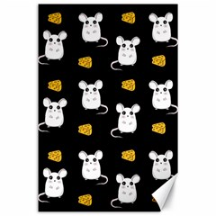 Cute Mouse Pattern Canvas 24  X 36  by Valentinaart