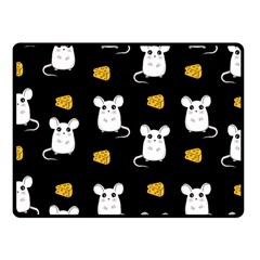Cute Mouse Pattern Fleece Blanket (small) by Valentinaart