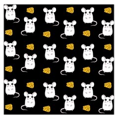 Cute Mouse Pattern Large Satin Scarf (square) by Valentinaart