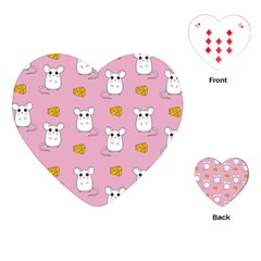Cute Mouse Pattern Playing Cards (heart)
