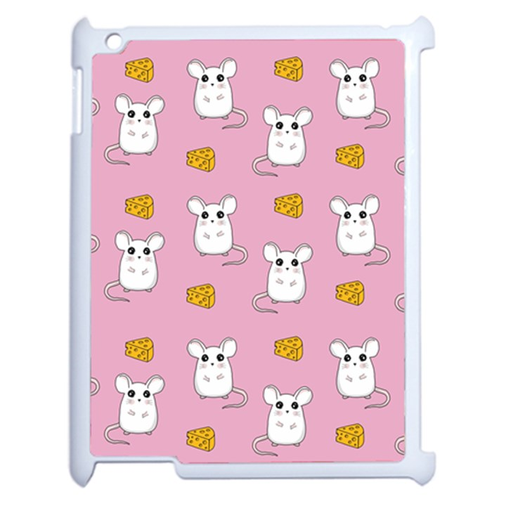 Cute Mouse Pattern Apple iPad 2 Case (White)