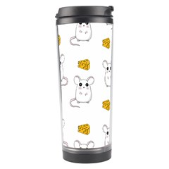 Cute Mouse Pattern Travel Tumbler by Valentinaart