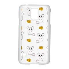 Cute Mouse Pattern Samsung Galaxy S5 Case (white) by Valentinaart