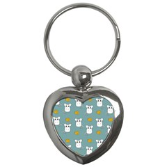 Cute Mouse Pattern Key Chains (heart)