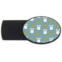 Cute Mouse Pattern Usb Flash Drive Oval (4 Gb) by Valentinaart