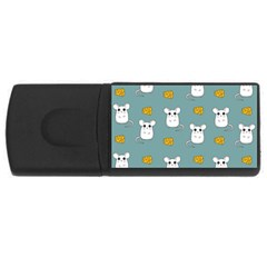 Cute Mouse Pattern Rectangular Usb Flash Drive by Valentinaart
