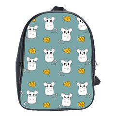 Cute Mouse Pattern School Bag (large) by Valentinaart