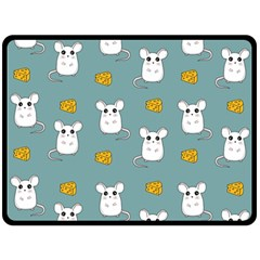 Cute Mouse Pattern Double Sided Fleece Blanket (large)  by Valentinaart