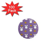 Cute Mouse Pattern 1  Mini Magnets (100 Pack)