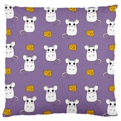 Cute Mouse Pattern Large Cushion Case (two Sides) by Valentinaart