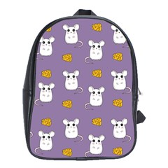 Cute Mouse Pattern School Bag (xl)