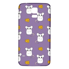 Cute Mouse Pattern Samsung Galaxy S5 Back Case (white)